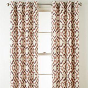 JCPenney Verona Twill Truman Grommet (2) Curtains